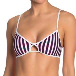 L*Space Ross Cutout Striped Adjustable Bikini Top